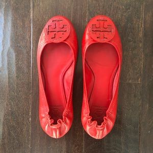Tory Burch Red Reva Flats